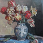 "Garden Tulips- 16""  x 12"""