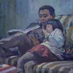 """Reading Time - 30""""  x 24"""""""