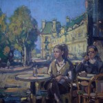 "Parisian Cafe- 16""  x 20"""